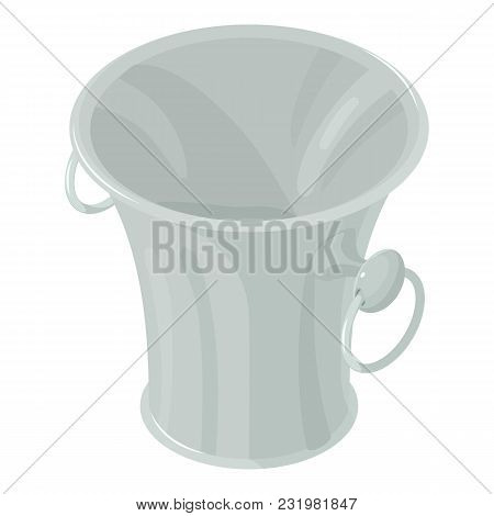 Garbage Bucket Icon. Isometric Illustration Of Garbage Bucket Vector Icon For Web