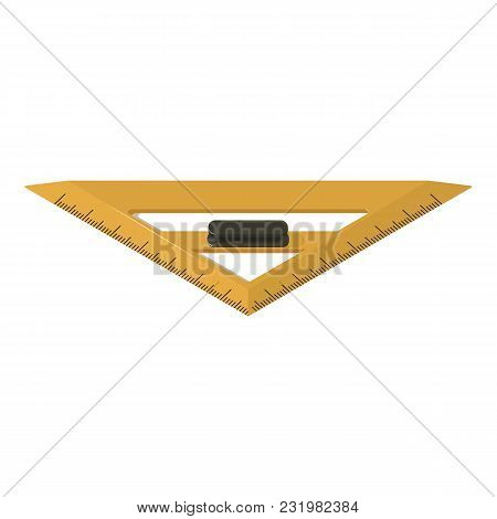 Triangle Ruler Icon. Isometric Illustration Of Triangle Ruler Vector Icon For Web