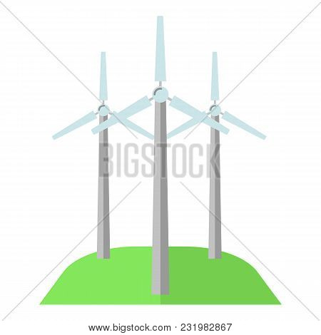 Windmill Icon. Flat Illustration Of Windmill Vector Icon For Web
