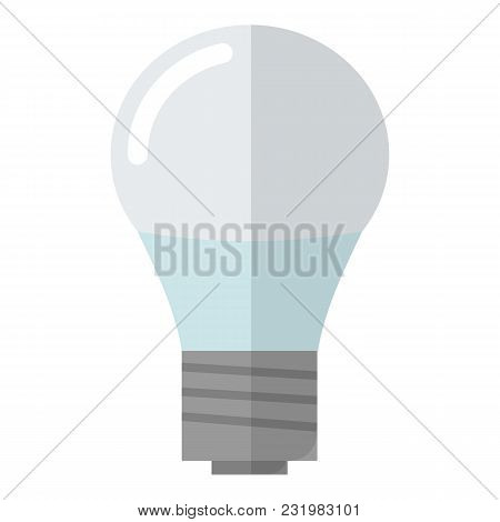 Lamp Bulb Icon. Flat Illustration Of Lamp Bulb Vector Icon For Web