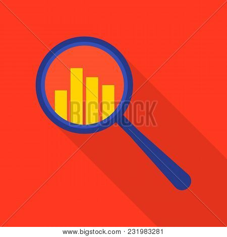 Searching Diagram Icon. Flat Illustration Of Searching Diagram Vector Icon For Web
