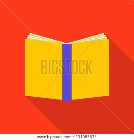 Bookcover Icon. Flat Illustration Of Bookcover Vector Icon For Web