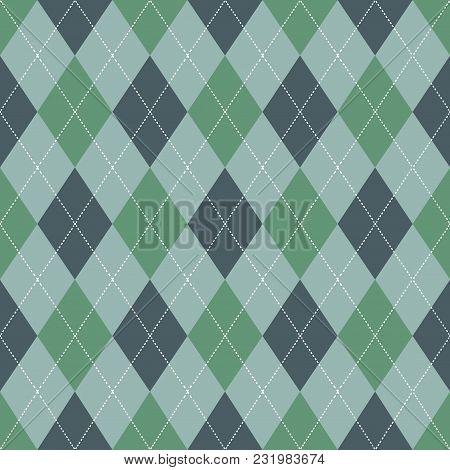 Seamless Argyle Pattern. Retro Green Color .vector.