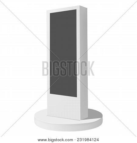Electronic Display Mockup. Realistic Illustration Of Electronic Display Vector Mockup For Web