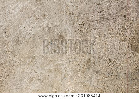 Cement Wall Brown Color Vintage Grunge Dirty Background&texture