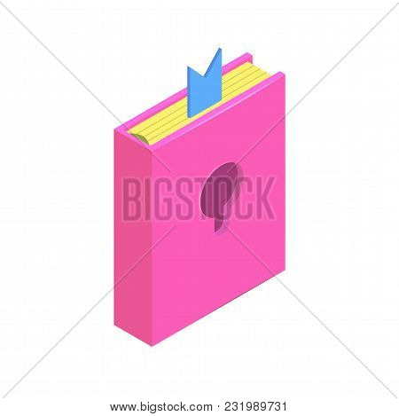 Isometric Diary With A Padlock Simple Icon. Personal Diary Concept Vector Illustration