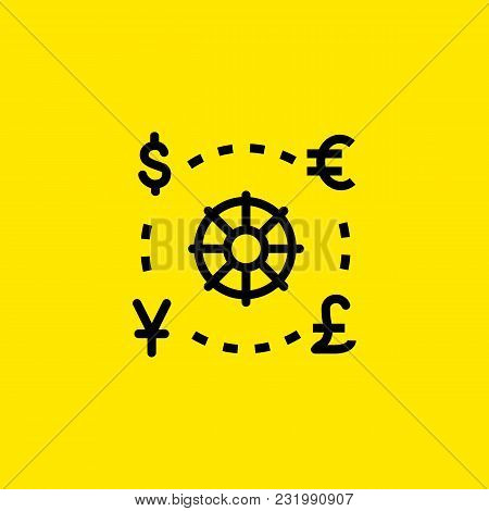 Icon Of World Currencies. Money, Finance, Symbols. Exchange Concept. Can Be Used For Topics Like Bus