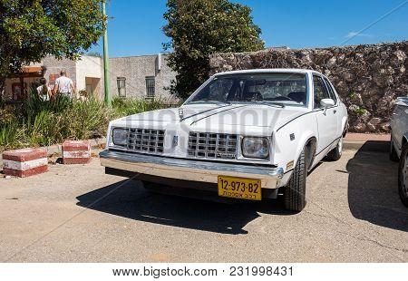 Beit Nir, Israel - March 17, 2018: Oldsmobile Vintage Car Presented On Oldtimer Car Show, Israel
