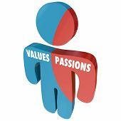 Values Passions Ambition Passionate Person 3d Illustration poster