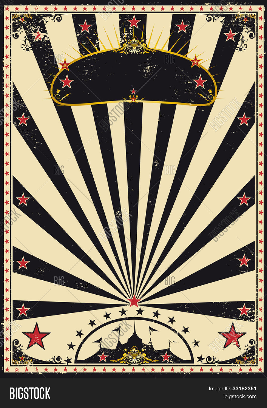 Dark circus retro circus poster vector photo bigstock for Circus posters free