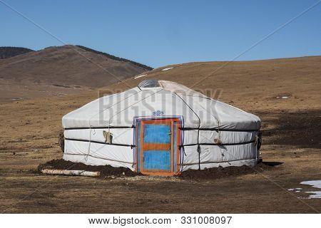 Mongolian Ger In Orkhon Region