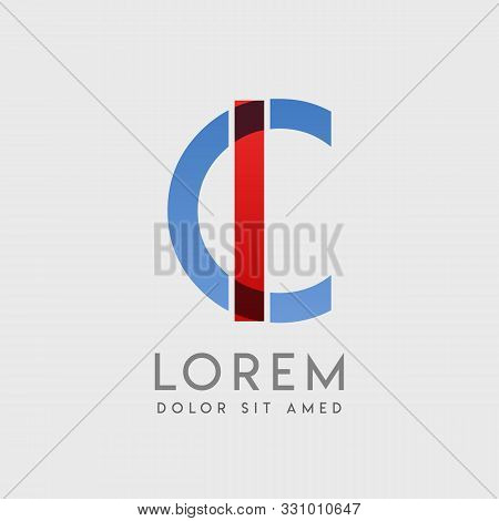 Ic Logo Letters With Blue And Red Gradation