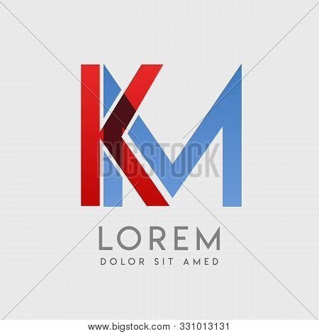 Km Logo Letters With Blue And Red Gradation
