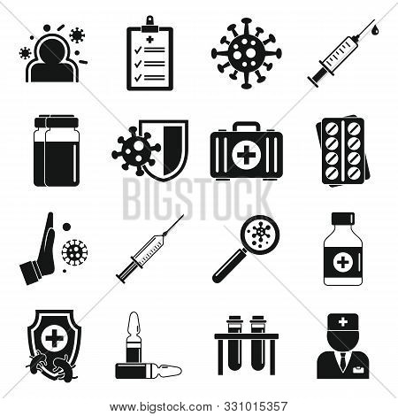 Immunization Icons Set. Simple Set Of Immunization Vector Icons For Web Design On White Background