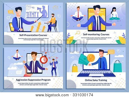 Business Professional Sales Training, Self-monitoring Courses, Aggression Suppression Advert. Flat B