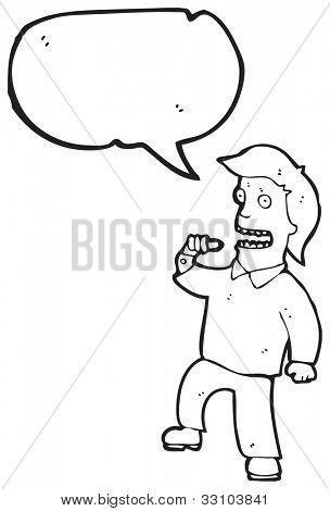 cartoon egotistical man