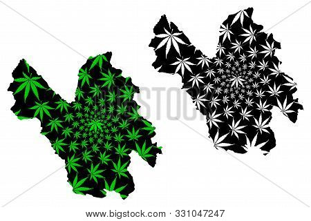 Lao Cai Province (socialist Republic Of Vietnam, Subdivisions Of Vietnam) Map Is Designed Cannabis L