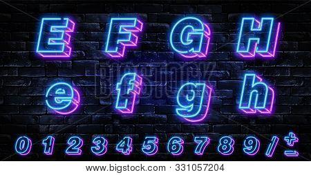 3d Neon Letters E-h. Neon Blue Font English. City Blue Font. Neon City Color Blue Font. English Alph