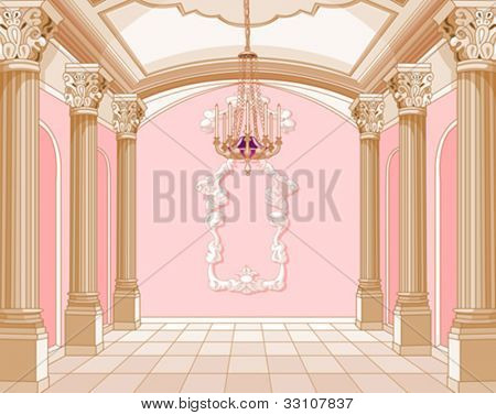 Interior of the ballroom of magic castle