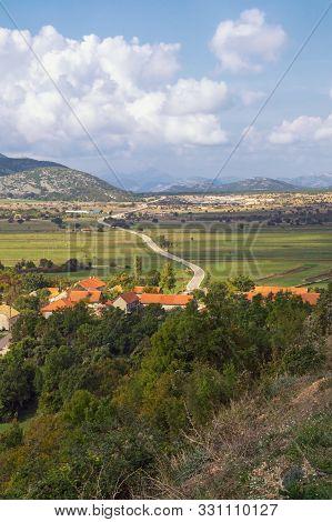 Beautiful Landscape Of Mountain Valley. Bosnia And Herzegovina, Republika Srpska, Zubacko Polje. Vie