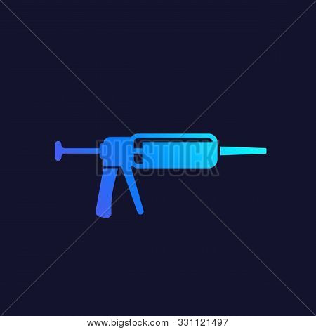 Silicone Gun Icon, Vector, Eps 10 File, Easy To Edit