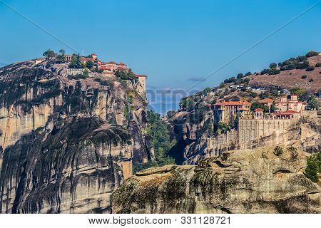 The Holy Monastery Of Great Meteoron And The Monastery Of Varlaam - Meteora, Greece, Europe