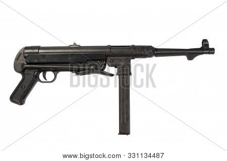 German MP38/40 submachine gun on white background poster