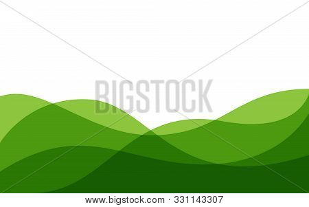 Abstract Green Background Wave Gradations, Modern Texture Background, Color Gradations Elegant Backg