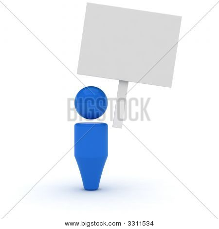 3D Web Icon - Blank Poster
