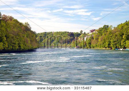 Headwaters of Rhine. Northern Switzerland. Europe