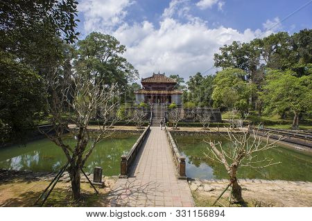 Hue, Thua Thien-hue, Vietnam - February 27, 2011: Imperial Tomb Of Emperor Minh Mang In Hue