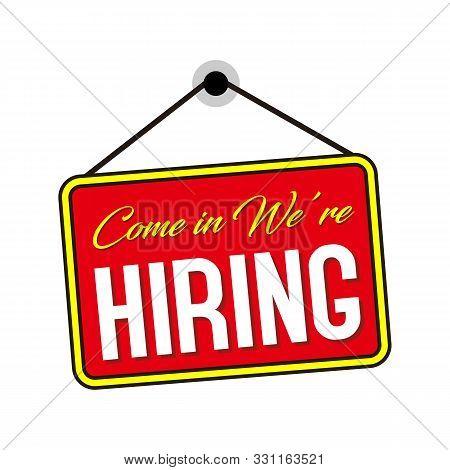 Were Hiring Symbol. Megaphone Banner. Recruitment Agency Sign. Hire Employees Symbol. Loudspeaker Wi