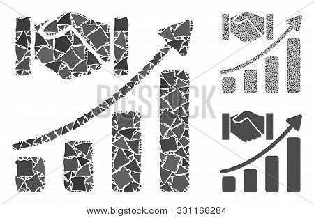 Acquisition Hands Growth Chart Composition Of Joggly Items In Different Sizes And Shades, Based On A