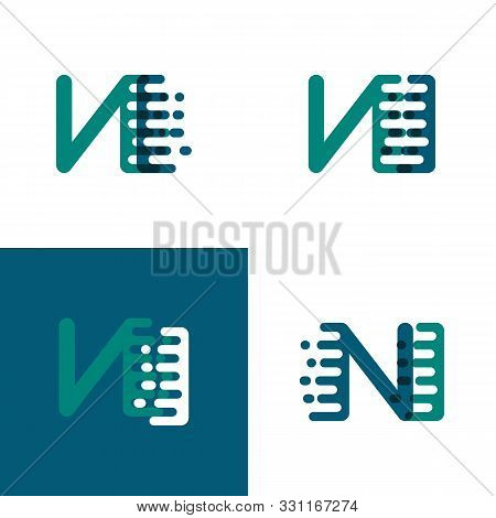 Ni Letters Logo With Accent Speed In Green And Dark Purple