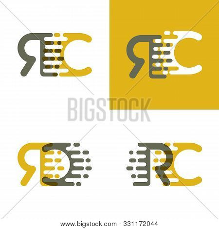 Rc Letters Logo With Accent Speed In Brown And Dark Yellow