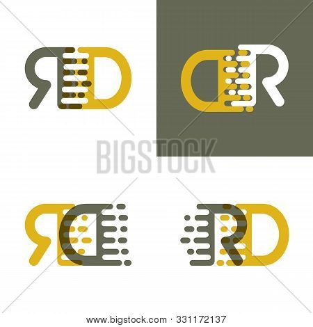 Rd Letters Logo With Accent Speed In Brown And Dark Yellow