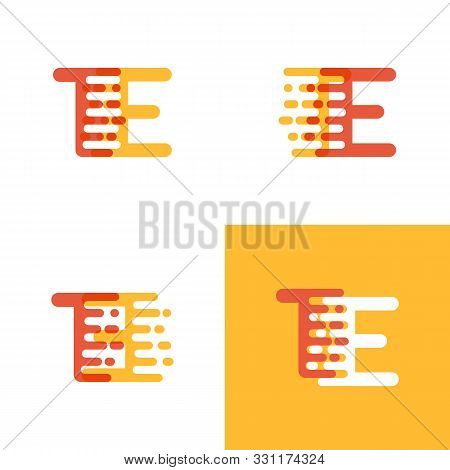 Te Letters Logo With Accent Speed Soft Orange And Yellow