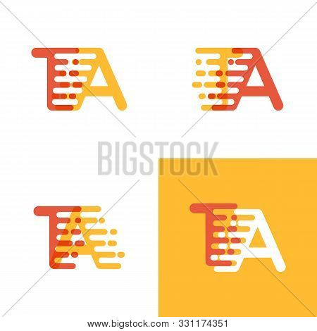 Ta Letters Logo With Accent Speed Soft Orange And Yellow