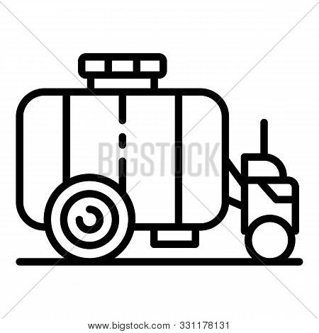 Farm Water Cistern Icon. Outline Farm Water Cistern Vector Icon For Web Design Isolated On White Bac