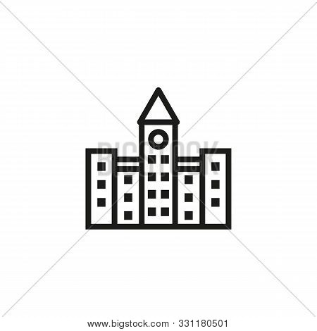 City Government Line Icon. Building, Administration, Executive. Government Concept. Vector Illustrat