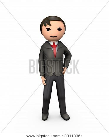 3D Young Business Man In Suit