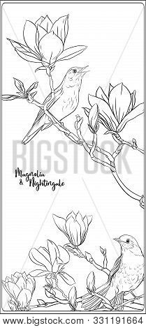 A design of a magnolia tree for the guest book. Dark brown for the ... | 470x209