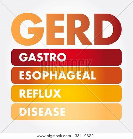 GERD - Gastroesophageal Reflux Disease acronym, medical concept background poster