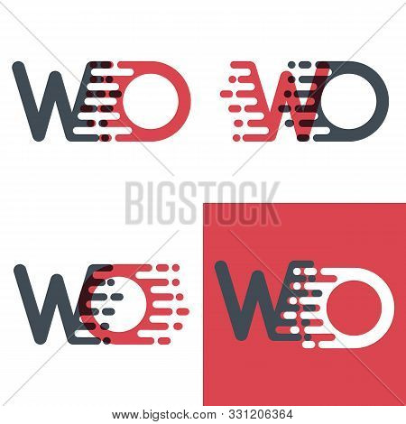 Wo Letters Logo With Accent Speed Pink And Dark Gray