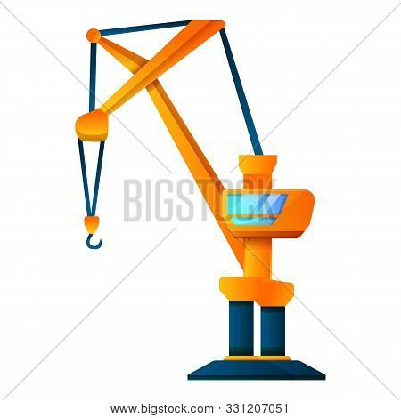 Cabine Crane Icon. Cartoon Of Cabine Crane Vector Icon For Web Design Isolated On White Background