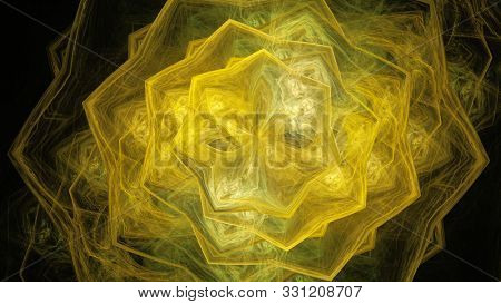 Colorful abstract fractal design elements for covers, textile patterns,