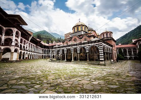 Rila Monastery, One Of The Main Tourist Destinations And Unesco Site In Bulgaria