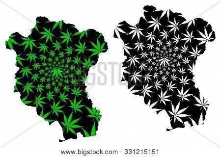 Tay Ninh Province (socialist Republic Of Vietnam, Subdivisions Of Vietnam) Map Is Designed Cannabis