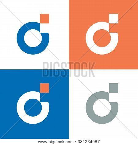 Digital Letter D Logo Template, D  Letter Pixel Logo Design - Vector