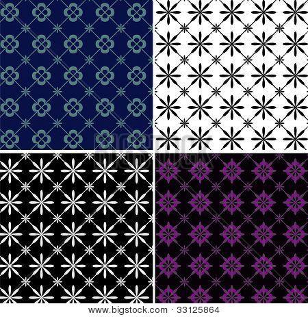 Geometric rhombus patterns